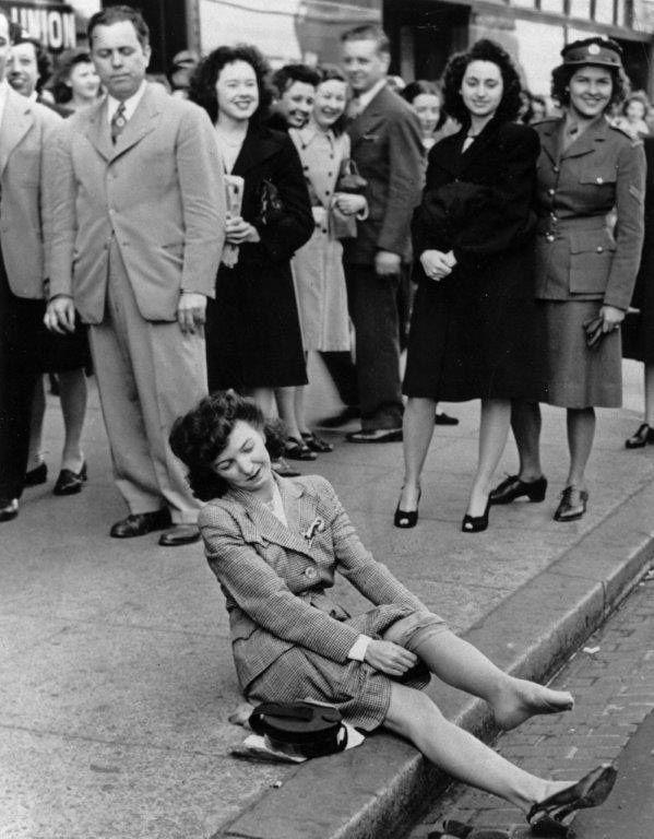 Nylonstrümpfe nach dem Zweiten Weltkrieg